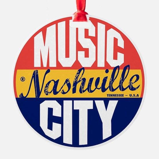 Nashville Vintage Label B Ornament