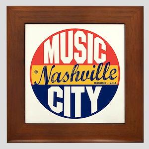 Nashville Vintage Label B Framed Tile