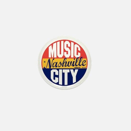 Nashville Vintage Label B Mini Button