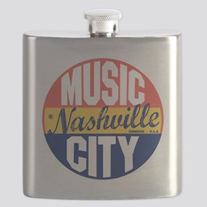 Nashville Vintage Label B Flask
