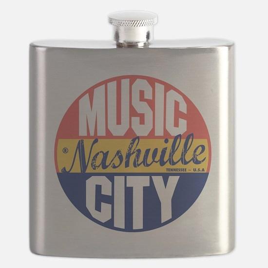 Nashville Vintage Label B Flask