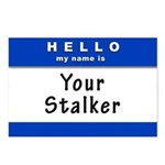 Hello My Name Is: Your Stalker Postcards (Package