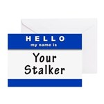 Hello My Name Is: Your Stalker Greeting Cards (Pk