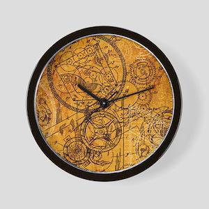 clockwork-collage Wall Clock