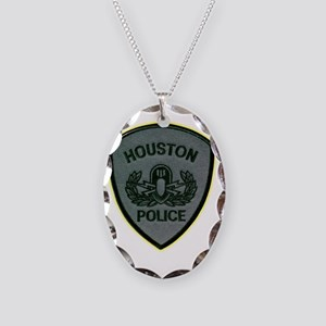 houstonbomb Necklace Oval Charm