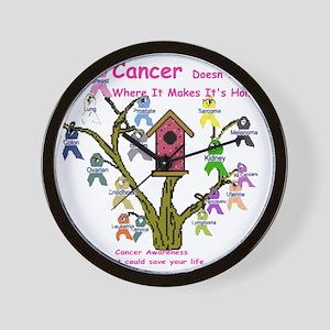 cancertree1 Wall Clock