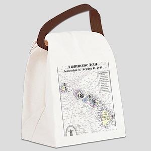 Hawaii map 3 Canvas Lunch Bag