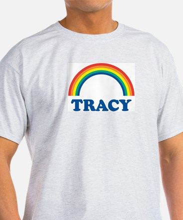TRACY (rainbow) Ash Grey T-Shirt