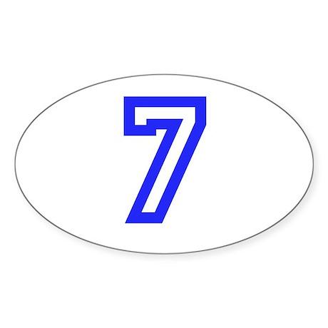 #7 Sticker (Oval)