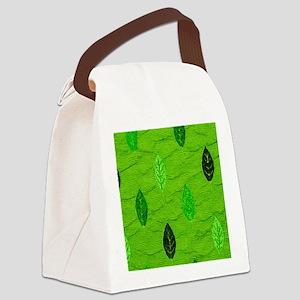 PatGreenLeafMP Canvas Lunch Bag