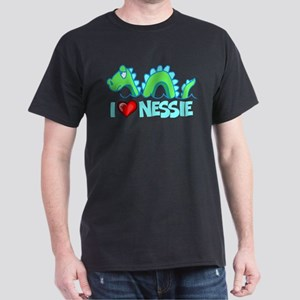 I Love Nessie Dark T-Shirt