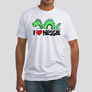 I Love Nessie Fitted T-Shirt