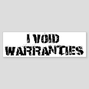 warrent1 Sticker (Bumper)