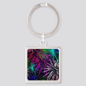 4th of july Square Keychain