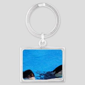 killer whales 2 Landscape Keychain