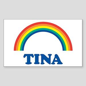 TINA (rainbow) Rectangle Sticker