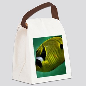 close-up of a yellow fish Canvas Lunch Bag
