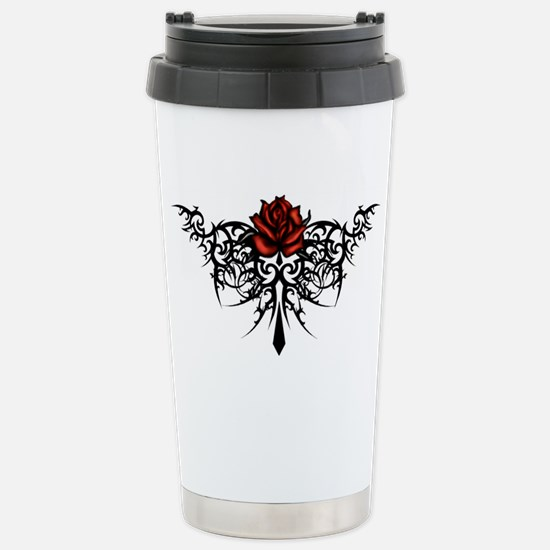 rose1 Stainless Steel Travel Mug