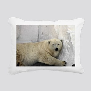 Polar Bear looking sleep Rectangular Canvas Pillow