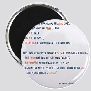Kerouac - the mad ones copy Magnet