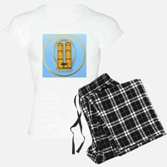 Gold Twin Towers-lettered-c Pajamas