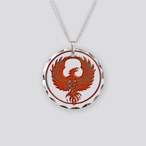 phoenix Necklace Circle Charm