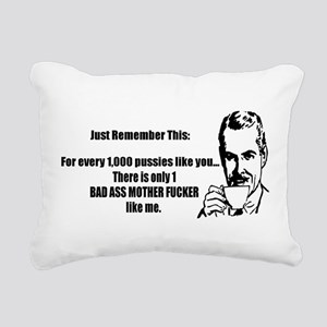 Bad Ass MF Rectangular Canvas Pillow