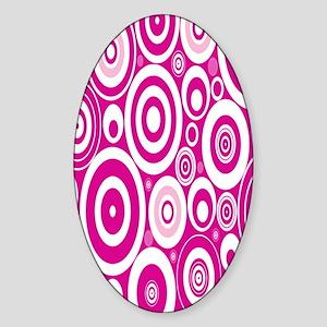 Retro Circles Sticker (Oval)