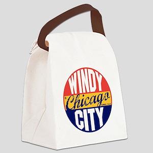 Chicago Vintage Label B Canvas Lunch Bag