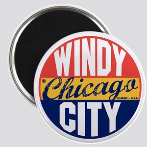 Chicago Vintage Label B Magnet