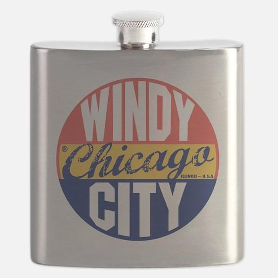 Chicago Vintage Label B Flask