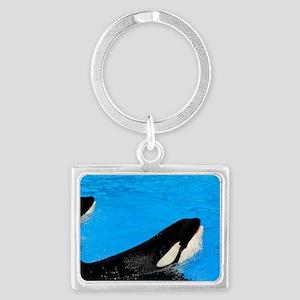 killer whales 3 Landscape Keychain