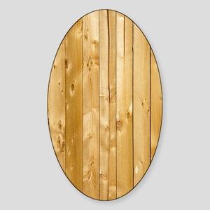 Wood Texture Sticker (Oval)