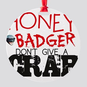 honey badger-page1 Round Ornament