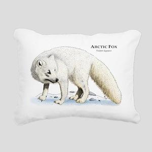 Arctic Fox Rectangular Canvas Pillow