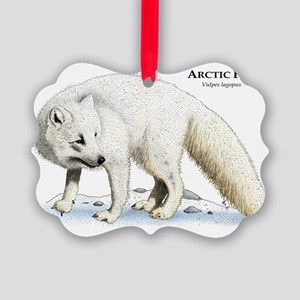 Arctic Fox Picture Ornament