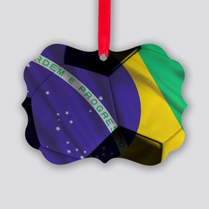brazil banner Picture Ornament
