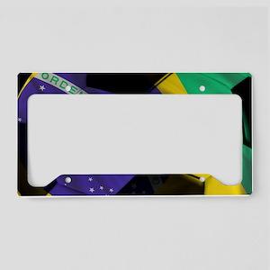 brazil banner License Plate Holder