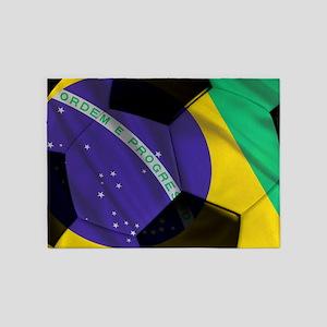 brazil banner 5'x7'Area Rug