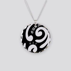 tribal Necklace Circle Charm