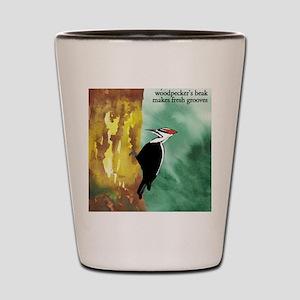 Woodpecker Haiku Shot Glass