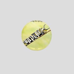 Caterpillar Haiku Mini Button