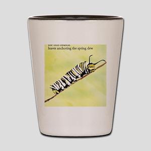 Caterpillar Haiku Shot Glass