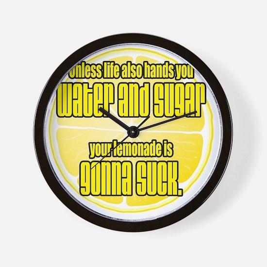lemonade sucks Wall Clock