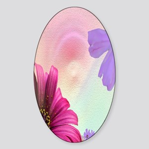 pink_and_purple_flower Sticker (Oval)