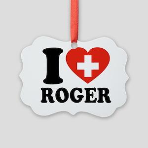 Love Roger Picture Ornament
