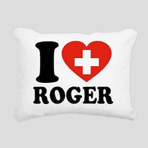 Love Roger Rectangular Canvas Pillow