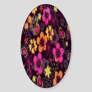 bright_flowers Sticker (Oval)
