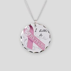 I Am A Survivor Necklace Circle Charm