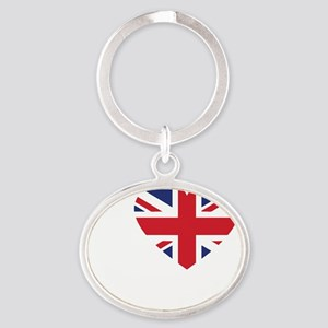 Love Andy -dk Oval Keychain